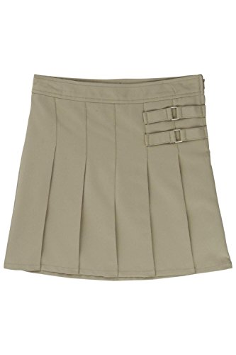 French Toast Big Girl's 2-Tab Scooter Skirt, Khaki, 20