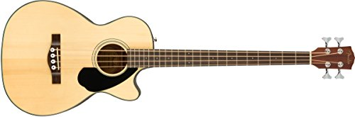 Fender CB-60SCE All Mahogany Acoustic-Electric Bass Guitar - Natural Finish (Cutaway Bass)