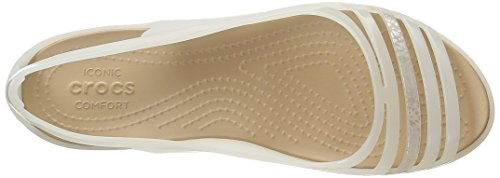 crocs Isabellafltsndl, Mules para Mujer Oyster