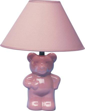 H.p.p Inc 15''h Ceramic Teddy Bear Table Lamp Pink