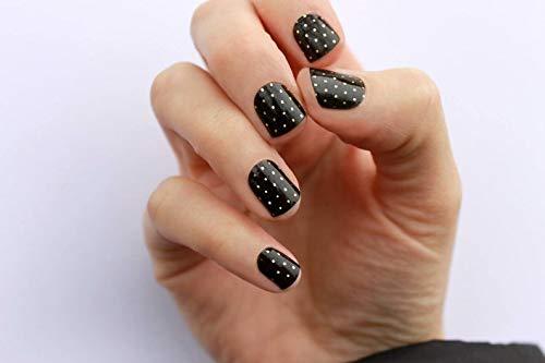 Black & Gold Swiss Dot Nail Wraps by nail wraps