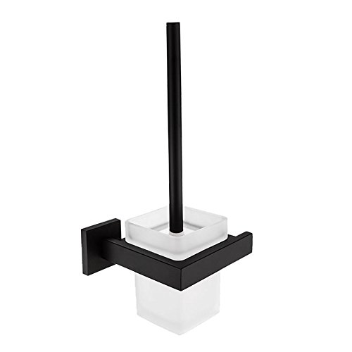 AOTAKE QA 24インチ ブラックマット シングルタオルポール バスルームタオルバー 304ステンレススチール ラッカー塗装 toilet brush holder ブラック B07L2B865D  toilet brush holder