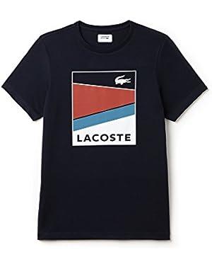 Men's Men's Black Printed T-Shirt in Size 3-S Black!