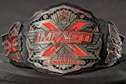 Maxan TNA Red Impact X Division Wrestling Championship Leather Belt