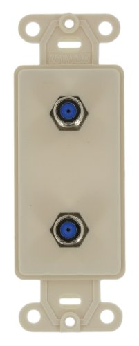 Leviton 40682-T CATV Video Decora Insert Flush Mount Jack, Light ()