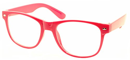 FancyG Classic Retro Fashion Style Clear Lenses Glasses Frame Eyewear - Hot - Glasses Frame Color