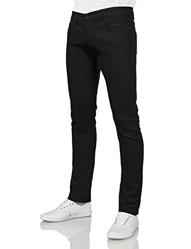 IDARBI Mens Basic Casual Color Skinny Cotton Twill Pants