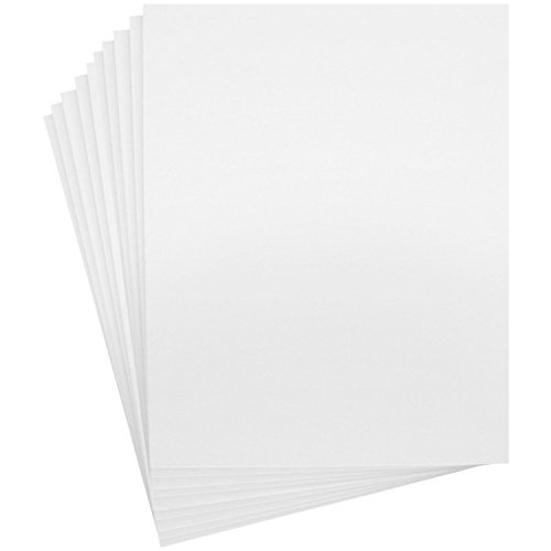 US Art Supply Art Mats Acid-Free Pre-Cut 11x14 White Picture Mat Matte Sets. Includes a Pack of 10 White Core Bevel Cut Mattes for 8x10 Photos, Pack of 10 Backers & 10 Clear Sleeve Bags