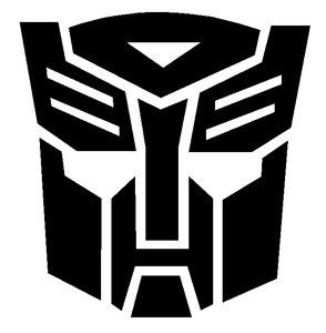 amazon com transformers autobot logo vinyl sticker decal black 12