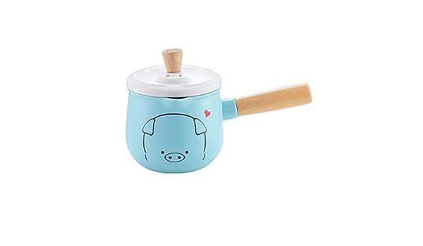Bbhhyy Olla de Cacerola de cerámica, Arte de la Cocina Bandeja de Leche de cerámica Suplemento de cocción for bebés Comida for el hogar, Olla for suplemento de Alimentos for bebés: Amazon.es: