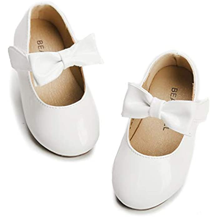 Felix & Flora Toddler Little Girl Mary Jane Dress Shoes - Ballet Flats for Girl Party School Shoes.