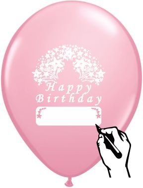 LIGHT PINK HAPPY BIRTHDAY BALLOONS 12 COUNT LARGE 12quot SIZE HB THEME