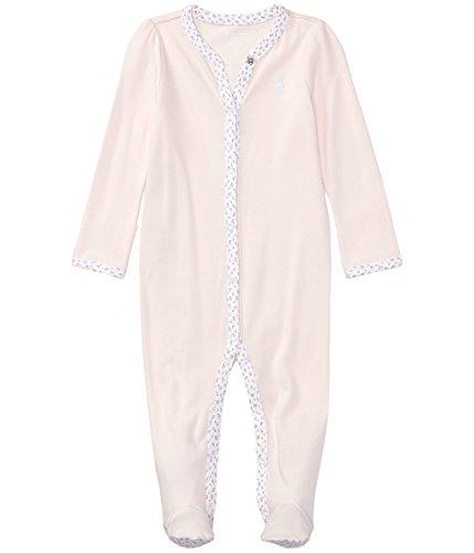 Ralph Lauren Newborn's Contrast Trim Bodysuit Pink Newborn