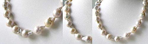 286cts Each Pearl Ooak Natural White Fireball FW Pearl Strand for Jewelry Making -