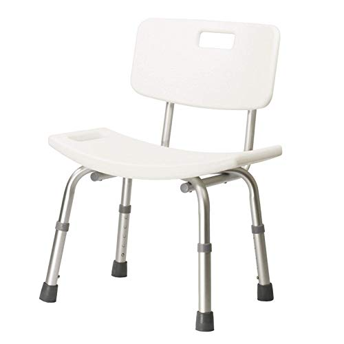Dr. Franklyn's Aluminum Bath Bench - Portable Medical Shower Chair with Handles & Adjustable Legs - Safety Aid for Elders Disabled & Seniors (White) ()