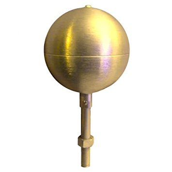 Flagpole ball top ornament 8 Inch Aluminum Anodized Gold