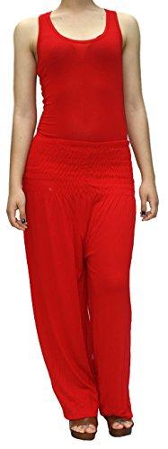 Pantalon Sport Yoga Sarouel Rouge Pour Élastique Femmes Bombacho wBqp1H