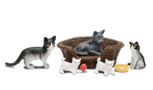 Lundby Smaland Dollhouse Accessories, Pet Animals, Cat Family by Lundby