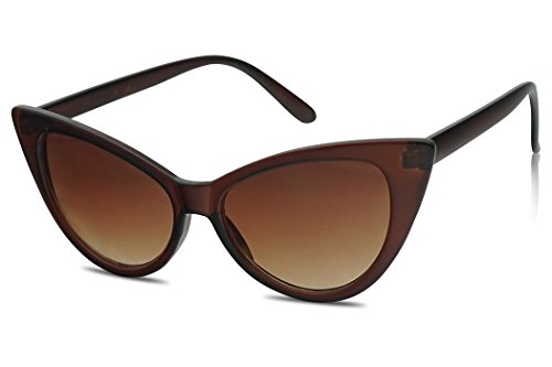 SunglassUP Iconic Inspired Hight Pointed Super Cateyes Vintage Sunglasses (Brown, - Zungle Sunglasses Sale For