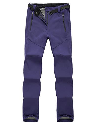 Automne Molle Hiver Plus Ourdoor Sports Toison Carapace Hommes 1 Respirant Violet Femmes vent Coupe Taille Pantalon Grande Randonnée Et Velours qZ04OwP1n