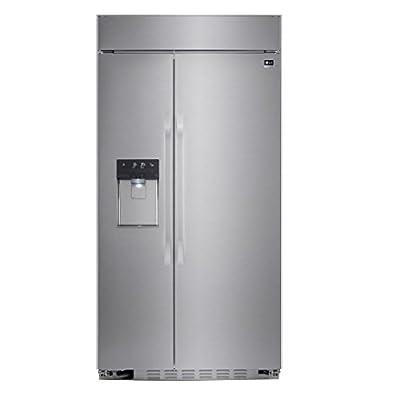 "LG Studio LSSB2692ST 42"" Built In Side by Side Refrigerator Energy Star Certified SpacePlus in Stainless Steel"