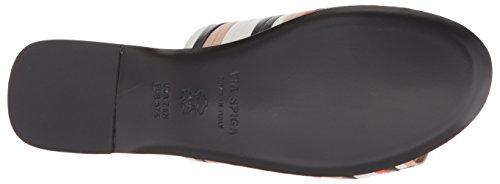 7 5 US Spiga Sandal Multicolor Leather Women's Woven Slide Via Harlotte Medium 8qwx7Hxz