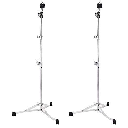 DW 6710UL Ultra Light Flat Base Straight Cymbal Stand (2 Pack Bundle)