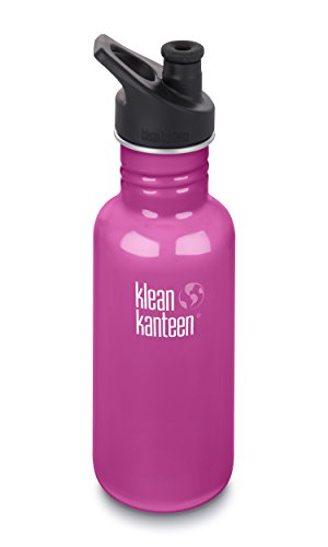Klean Kanteen 18oz Classic Stainless Steel Water Bottle with Klean Coat, Single Wall and Leak Resistant Sport Cap 3.0 - Wild Orchid