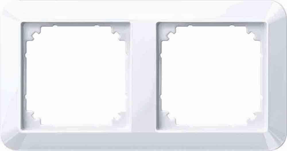 Merten 389225 1 M Rahmen 2fach Aktivweiß Glänzend Baumarkt