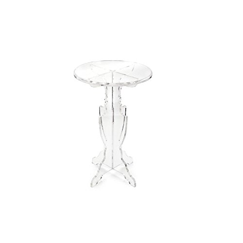 "29"" Prestigious Transparency Crystal Clear Round Decorative Accent Table by CC Home Furnishings"