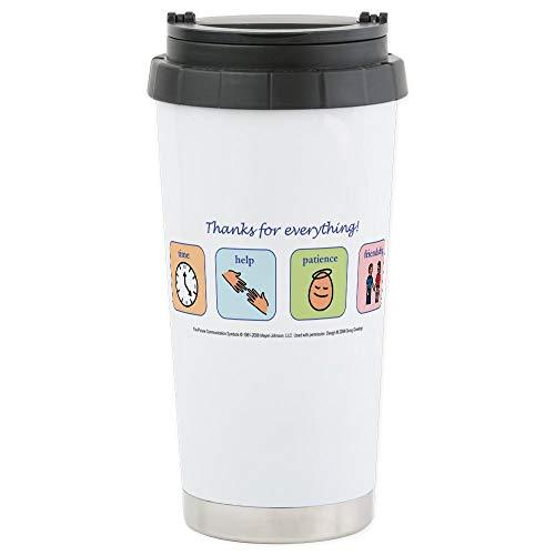 (CafePress Stainless Steel Travel Mug Stainless Steel Travel Mug, Insulated 16 oz. Coffee Tumbler)