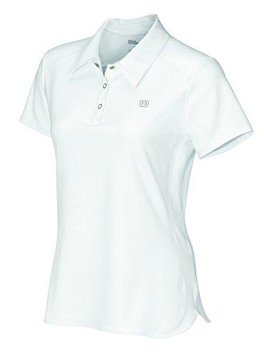 Wilson Women's Short Sleeve Polo, White, X-Small - Mm Short Sleeves Knit