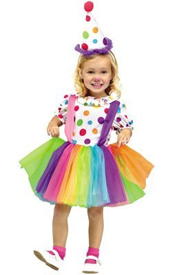 Girls Big Top Fun Clown Costume - X-Large 4/6