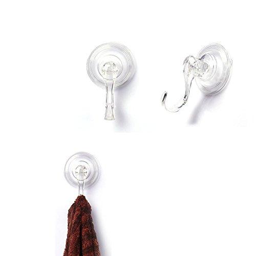 Bathroom Shower Kitchen Window Bag Coats Towels Caps Holder Ultra Heavy Duty Strong Hooks Clear Plastic Hook LGEGE 4pcs Suction Cup Hook Smooth Wall Hooks Vacuum Traceless Hooks