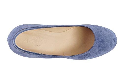 Hogan Zapatos Mujer Azul Cuero Salón 36