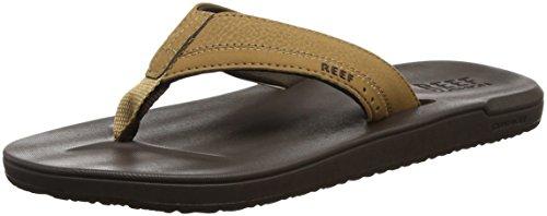 Reef Men's Contoured Cushion Sandal, Brown, 12 M US - Sandal Flop Charm Flip
