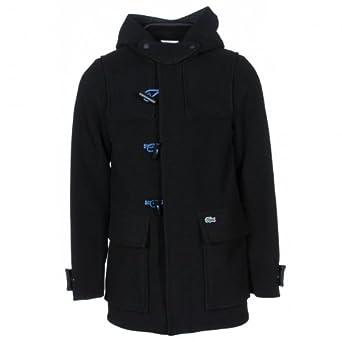 af5b304a5034 Lacoste Live duffle coat Black 36  Amazon.co.uk  Clothing