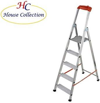 M.Cannarozzi HSC0083 - Escalera de Aluminio (6 peldaños), Color Plateado: Amazon.es: Jardín