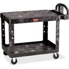 Rubbermaid Commercial 4525 HD 2-Shelf Utility Cart Flat Shelf (Med)