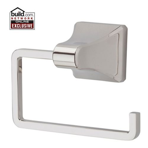 Pfister BPH-FE1 Park Avenue Tissue Paper Holder with Single Post Mounting, Polished Nickel