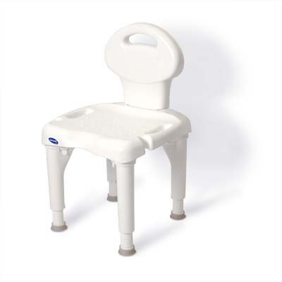 Invacare 9781-1 I-Fit Shower Chair (1 Inch Chair Tips 2)