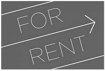 CGSignLab 5-Pack Basic Black Window Cling for Rent 27x18