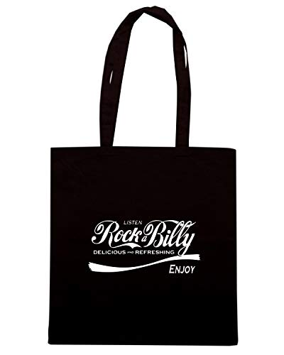 Shopper Borsa Nera ENJOY ROCKABILLY ENJOY0131 gga0qz