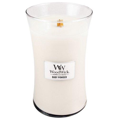 Woodwick, Glaskerze, 625ml, Baby Puder, Brenndauer 180 Stunden