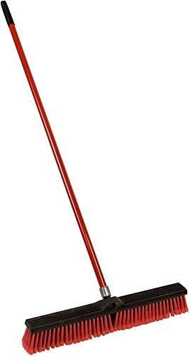 American Market Large 24'' Multi-Surface Push Broom with 49'' Alloy Handle by American Market