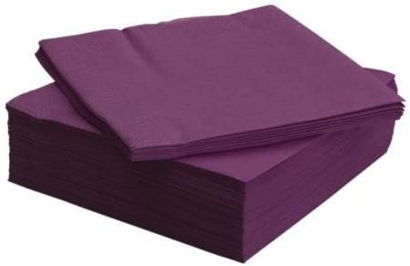 50 x IKEA FANTASTISK PAPER NAPKINS 40cm x 40cm in Purple