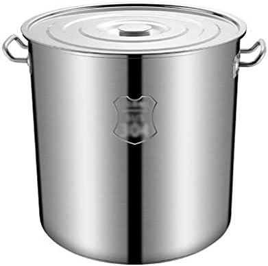S-TING 鍋 蓋クッカーパンと誘導調理器、蓋付きの金属製の蓋、ストレートポット植物ポット、大容量ポット(サイズ:36 * 35CM(30L))(サイズ:41 * 40CM(45L)) 不沾鍋 鍋子 萬用鍋 炒め鍋 フライパン