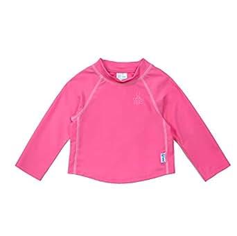 i play. Long Sleeve Rashguard Shirt for 3 to 4 Years Kids, Hot Pink, 4T