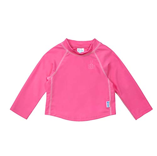i play. Long Sleeve Rashguard Shirt   All-day UPF 50+ sun protection-wet or dry,Hot Pink Classic,4T