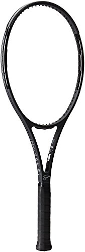 Wilson Pro Staff RF97 Roger Federer Autograph Matte Black Tennis Racquet (4 5/8 Grip) Strung with White Tennis Racket String (Advanced Players Racket)